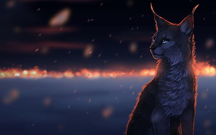 Рисунка на дива котка
